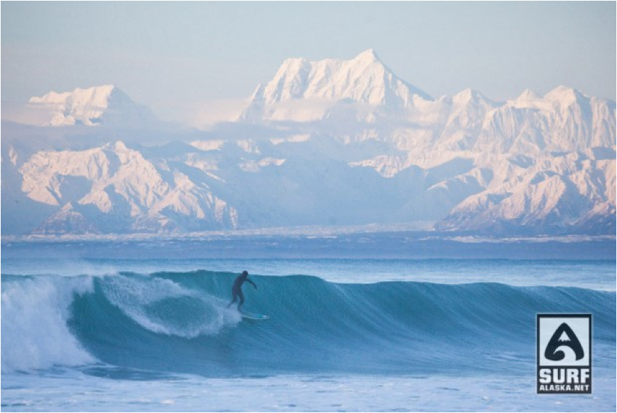Description: ike McCune Surfing Yakutat, Alaska.